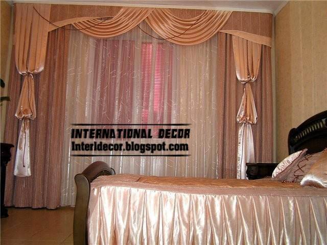 Superior Top Curtain Model For Bedroom And Unique Bedroom Draperies Design