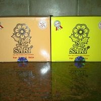 Cream sari