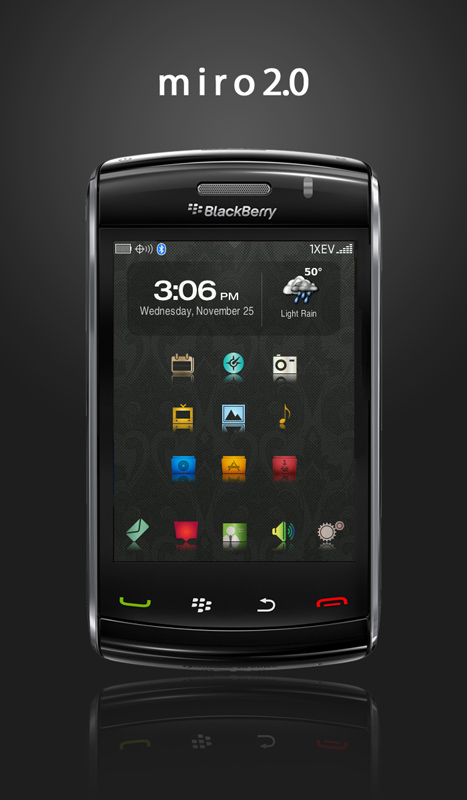 Blackberry 6 OS theme :DreamTorch OS6.