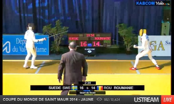 Suedia 16 - Romania 14