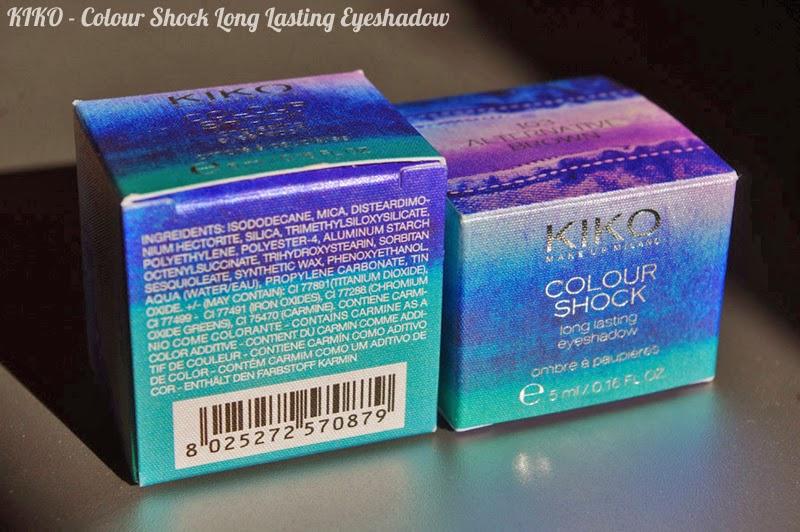 KIKO - Colour Shock Long Lasting Eyeshadow : swatches + avis