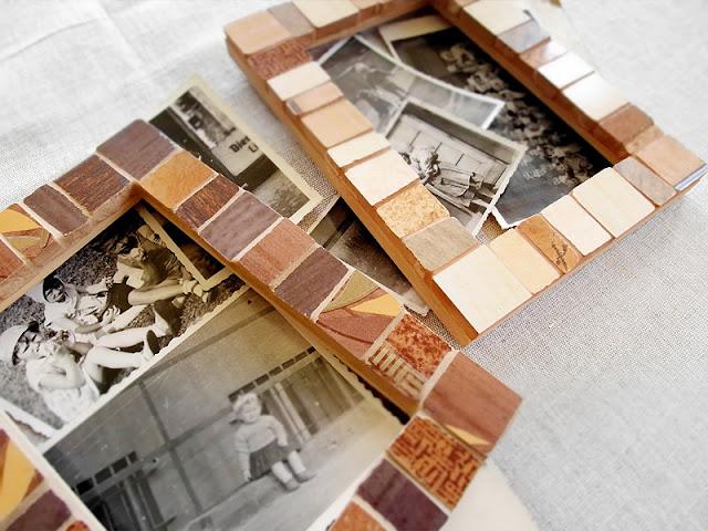ramki foto, wykonane w technice mozaiki