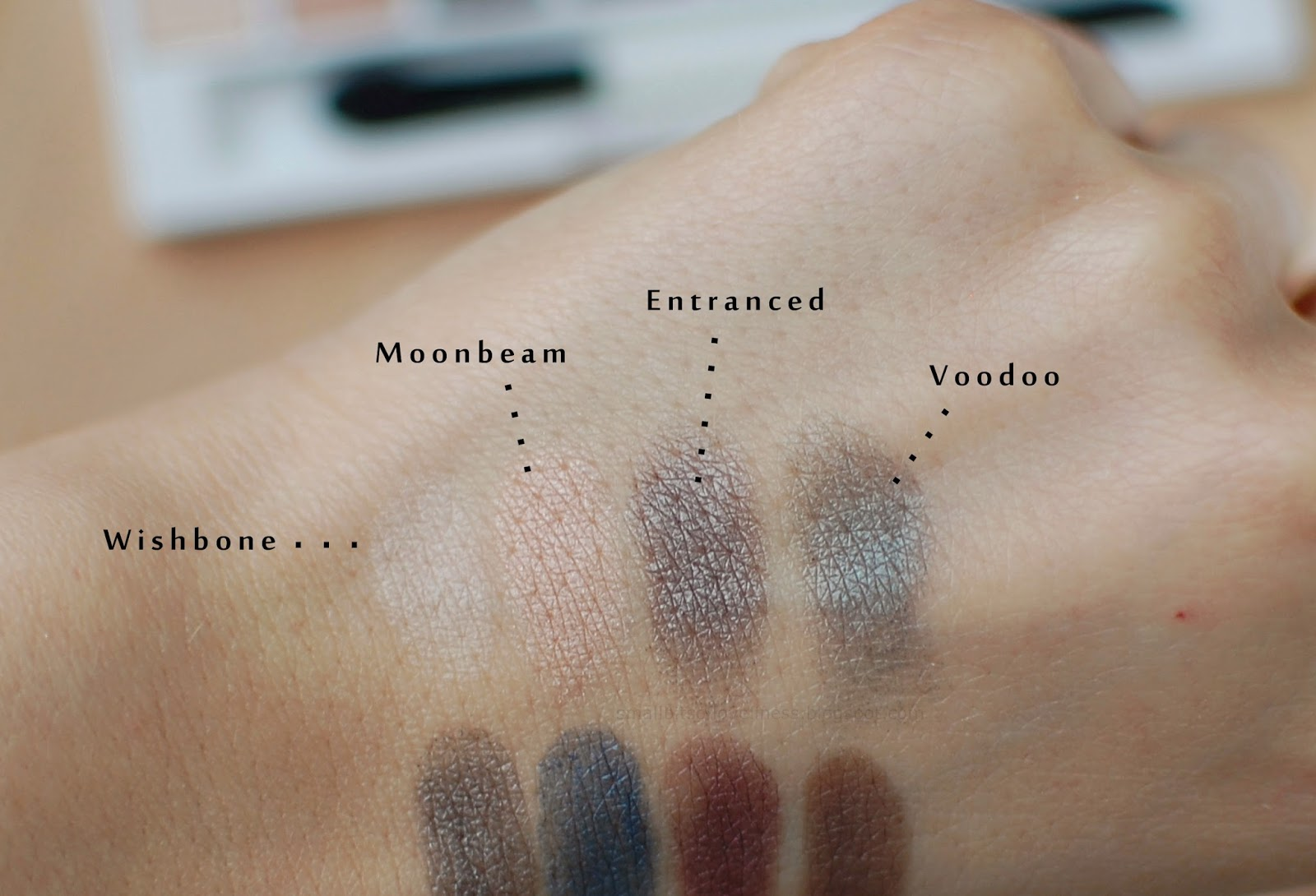Liyl Lolo Eye Palette Enchatned swatches