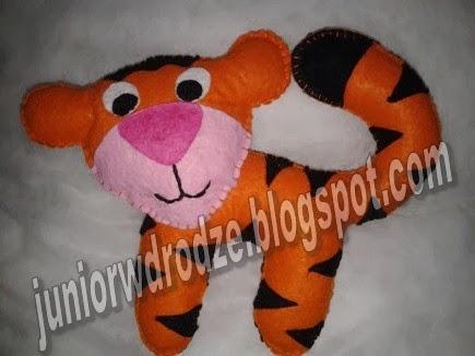Maskotka z filcu - Tygrys