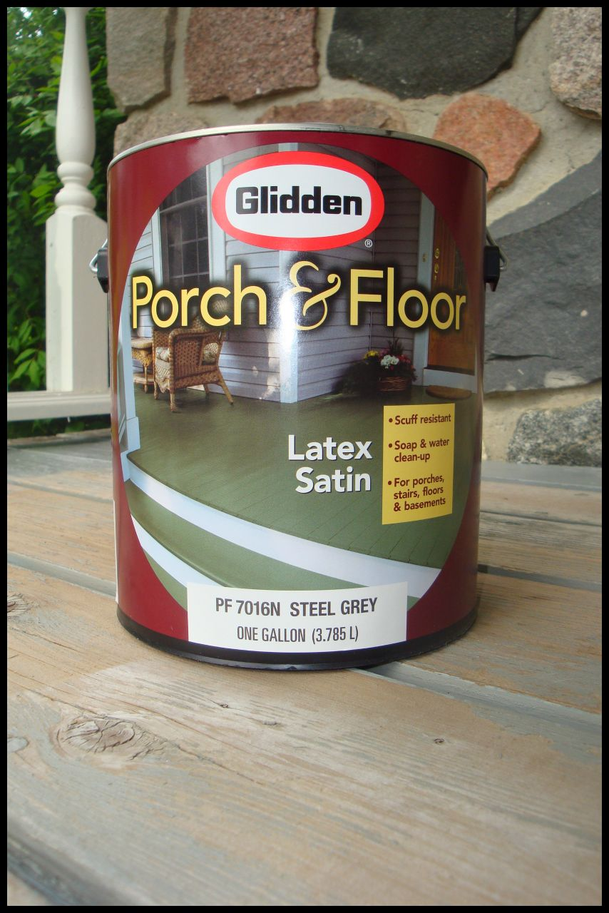 I Headed To My Favorite Home Improvement Store And Picked Up Glidden Porch  U0026 Floor Paint In Steel Grey. I Loved How Smooth It Went On And Covered.