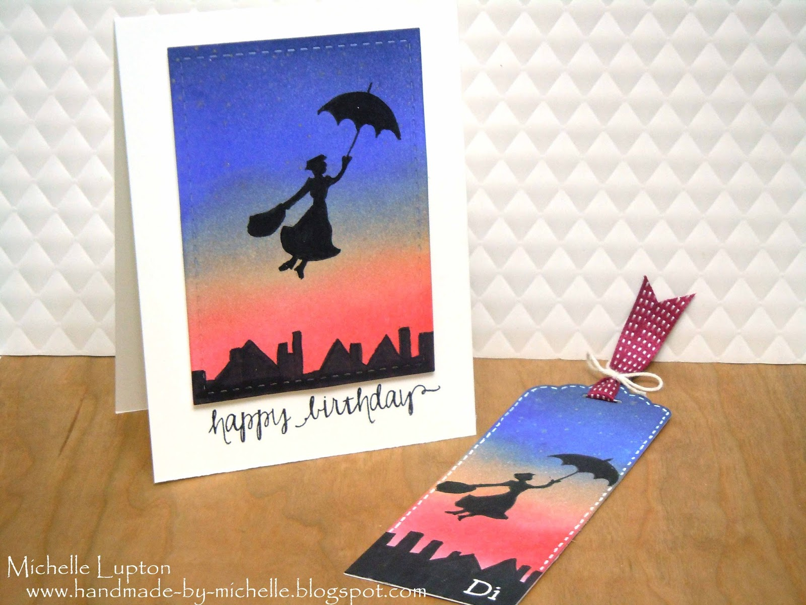 Handmade by Michelle Mary Poppins birthday card