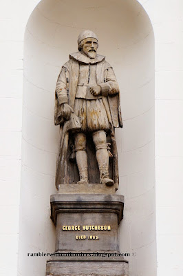 Statue of George Hutcheson, Hutcheson Hall, Glasgow, Scotland, UK
