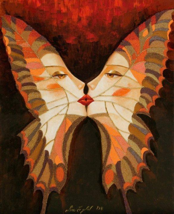 Butterfly Kiss I by Alina Eydel