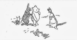 Piglet, Rabbit, Winnie-the-Pooh, Kanga and Roo illustrated by E. H. Shepard