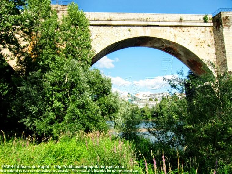 Detalle de un arco del Puente Romano de Ourense - EdP