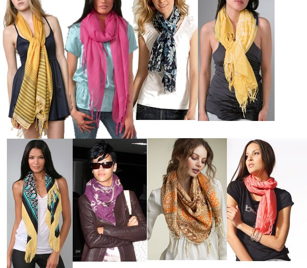 how to properly wear a scarf