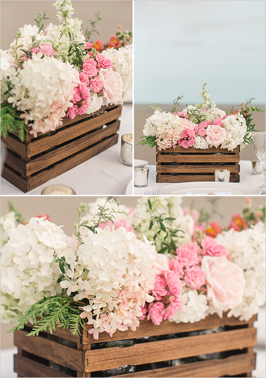 Country Rustic Wedding Table Centerpieces