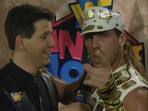 WWF / WWE - In Your House 2 - The Lumberjacks - Shawn Michaels spoke to Todd Pettingill about his upcoming match with Jeff Jarrett