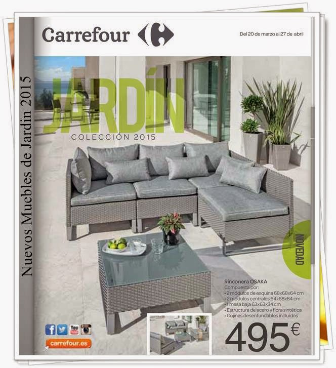 Nuevos muebles de jardin y decoracion carrefour 2015 for Cofac catalogo jardin 2015