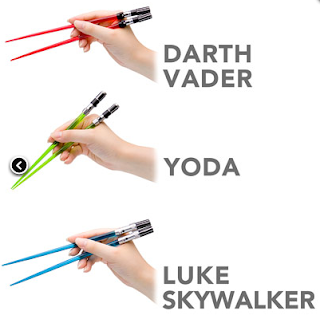 The Ultimate Fun Foodie-Friendly Gift List - Star Wars Light Saber Chopsticks
