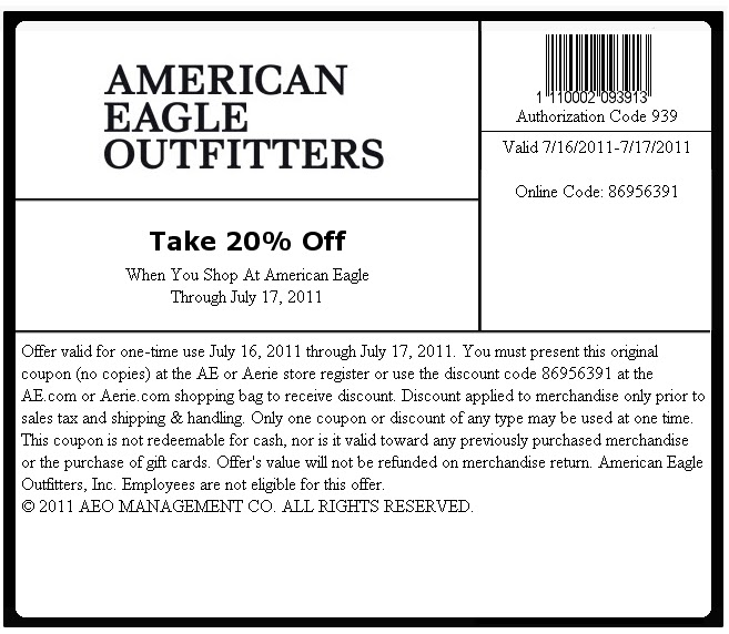 Deals on american eagle outfitters