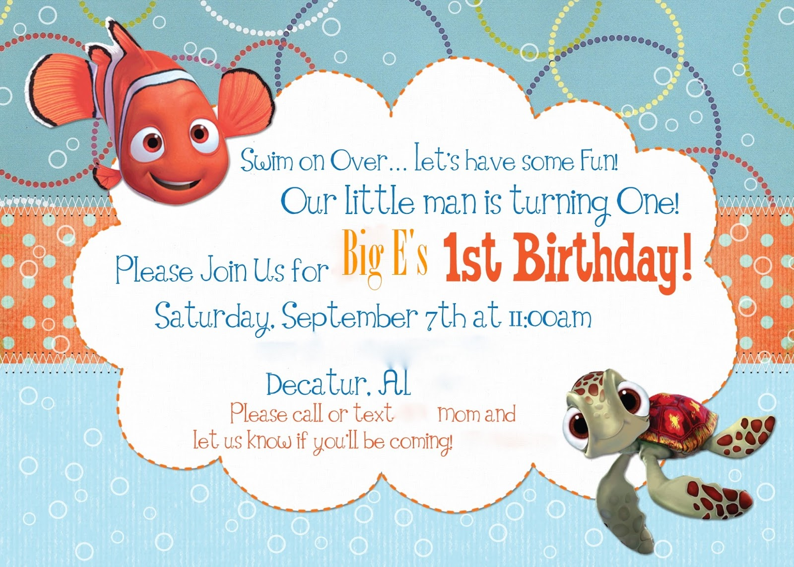 Finding Nemo First Birthday Party Etsy Purchases | A Disney Mom\'s ...