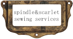 ...and on my website, Spindle&amp;Scarlet Sewing Services.