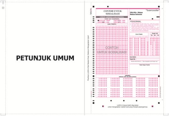 Contoh LJK UN 2013 - SD SMP SMA