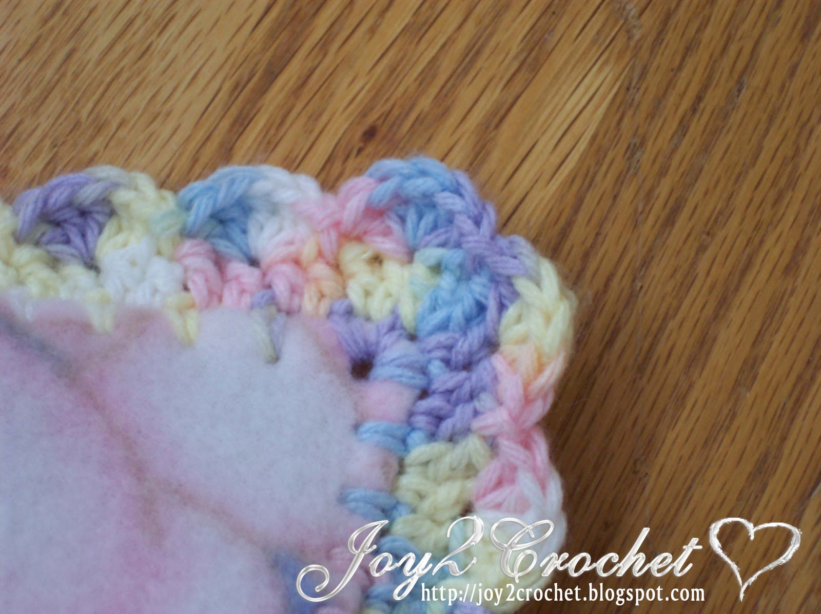 Joy 2 Crochet: Fleece Baby Blankets with Crocheted Edge