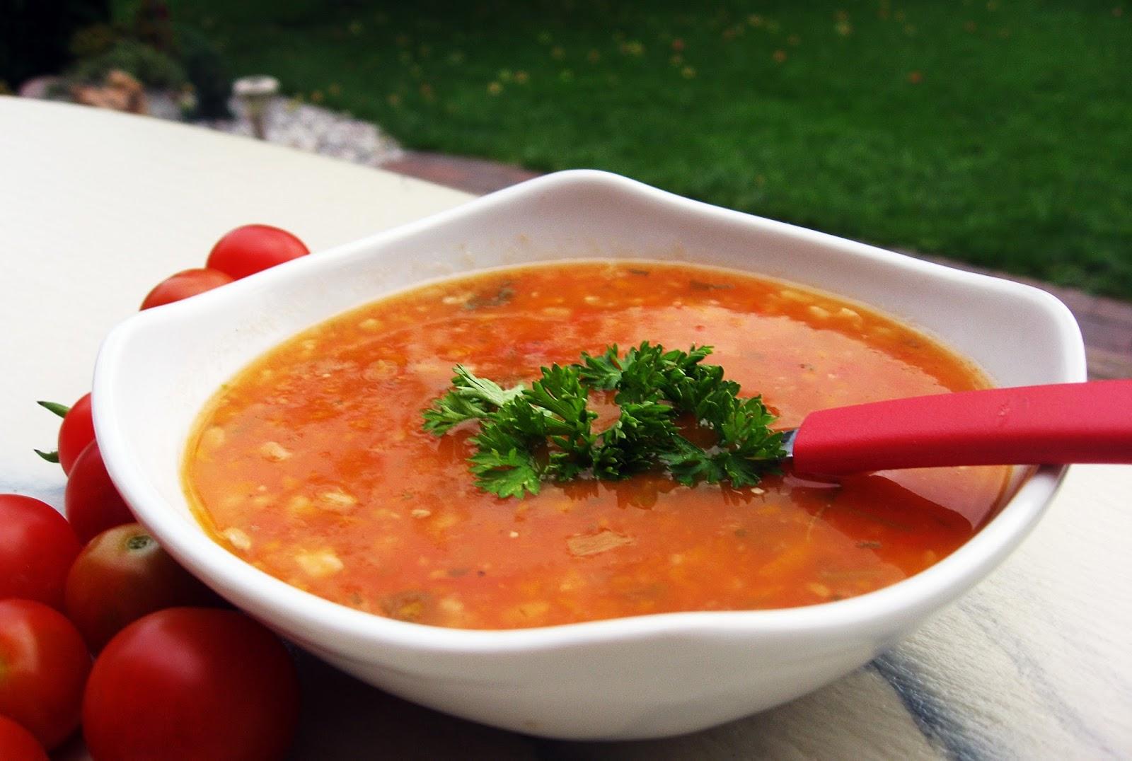 Lengvai Ir Skaniai Pomidorinė Sriuba Su Rudaisiais Ryžiais