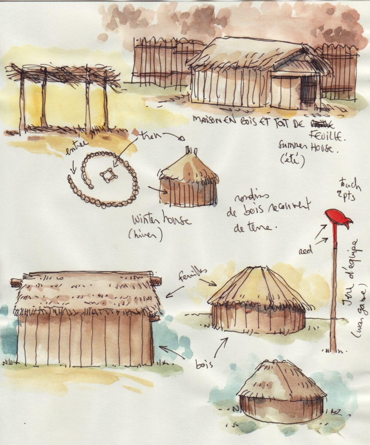 croquis de voyages trip sketches didier millotte le mus e de la tribu chickasaw oklahoma. Black Bedroom Furniture Sets. Home Design Ideas