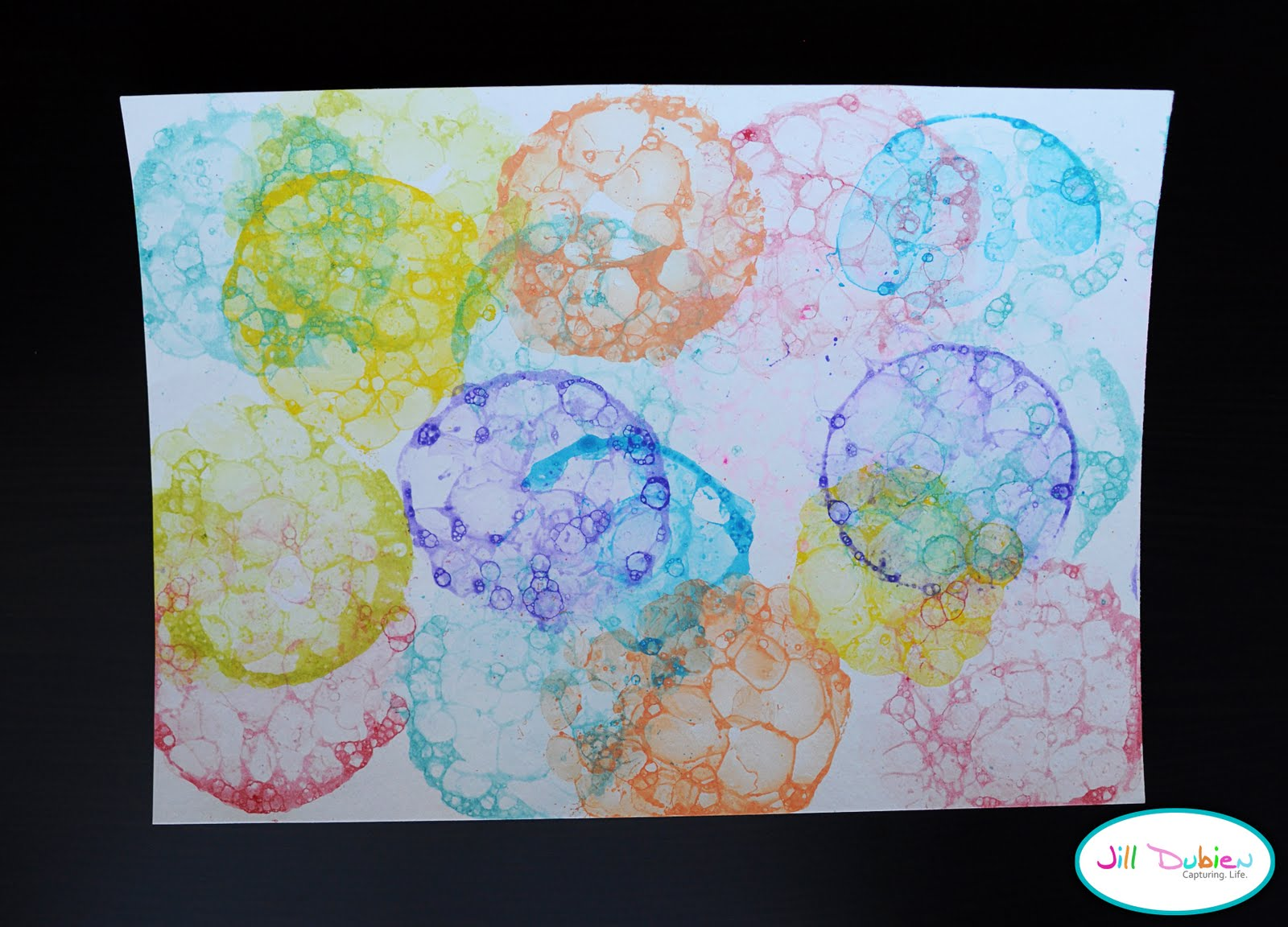 how to make bubble painting mixture