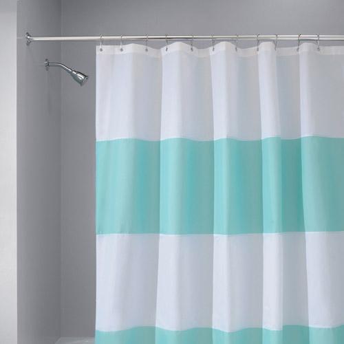 InterDesign Zeno WP Shower Curtain In Blue White