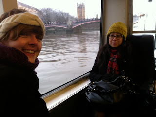 Riverbus, London, London transport, River Thames, Thamesclipper, commute, wooly hat