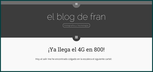 El blog de Fran