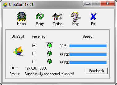 Navegar anónimo en Internet con UltraSurf