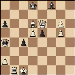 Partida de ajedrez Club Ajedrez Barcelona vs. Peña Rey Ardid de Bilbao, Torneo Postal Interclubs - 1958, posición después de 37…Tb1+