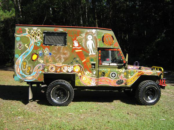 The Message Stick Vehicle Art Car