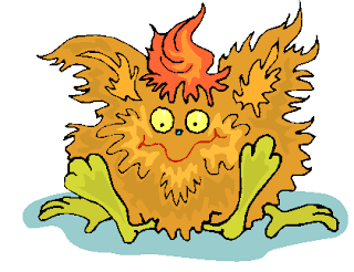 Yellow Hairy Creature Sitting Down Free Clipart