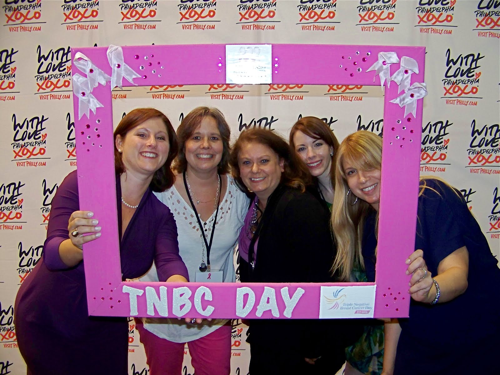 Me with the ladies of the TNBC Foundation