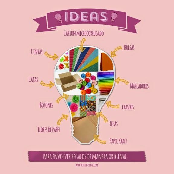 Ideas originales y f ciles para envolver regalos kireidesign for Ideas para envolver regalos