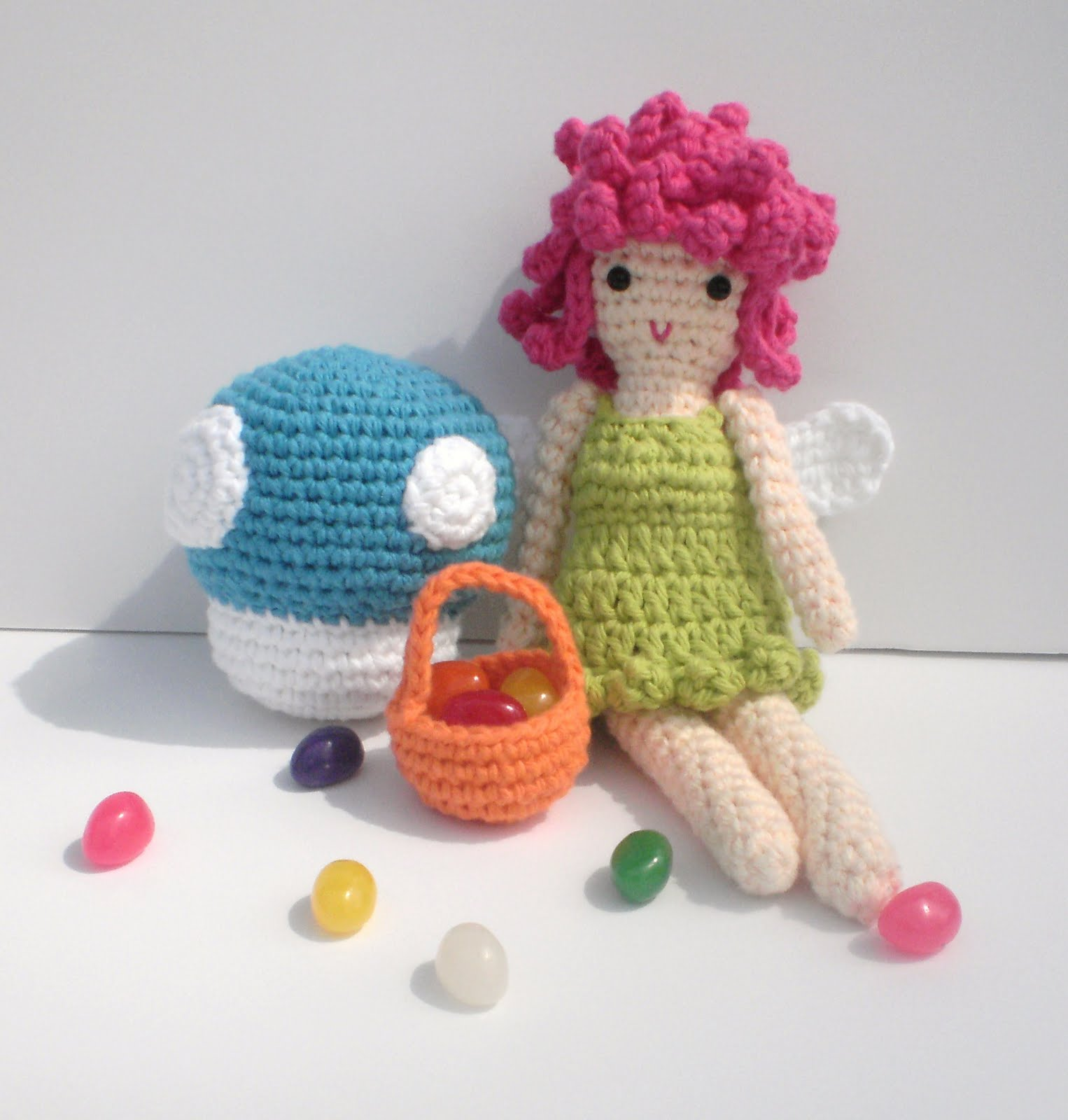 Original Crochet Amigurumi Flowers : The Blue Crab Stitches At Midnight: Flower Fairy ...