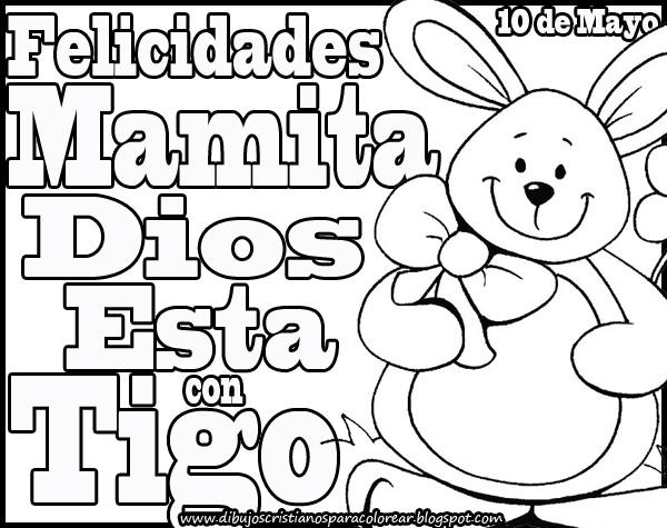 Dibujos Cristianos Del Día De Las Madres Para Imprimir Y Colorear