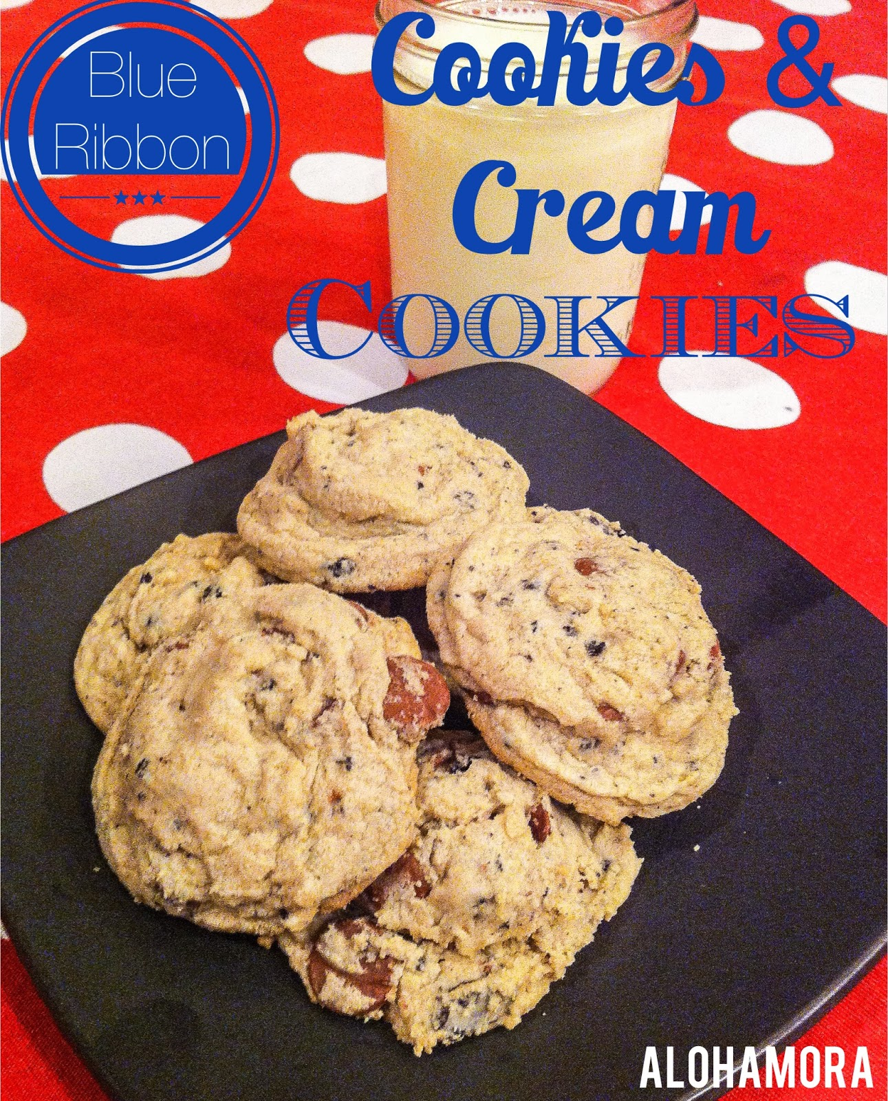 Blue Ribbon Cookies & Cream Cookies that are soft, delicious, and crowd pleasing. Alohamora Open a Book http://alohamoraopenabook.blogspot.com/
