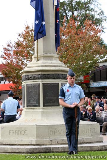 Sentry duty at the Havelock North Cenotaph photograph