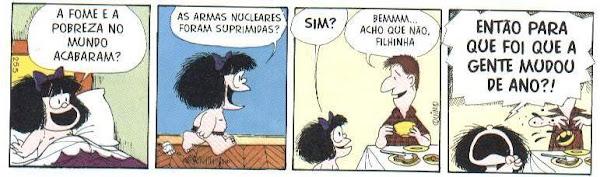 Mafalda (Quino) - para que foi que a gente mudou de ano?