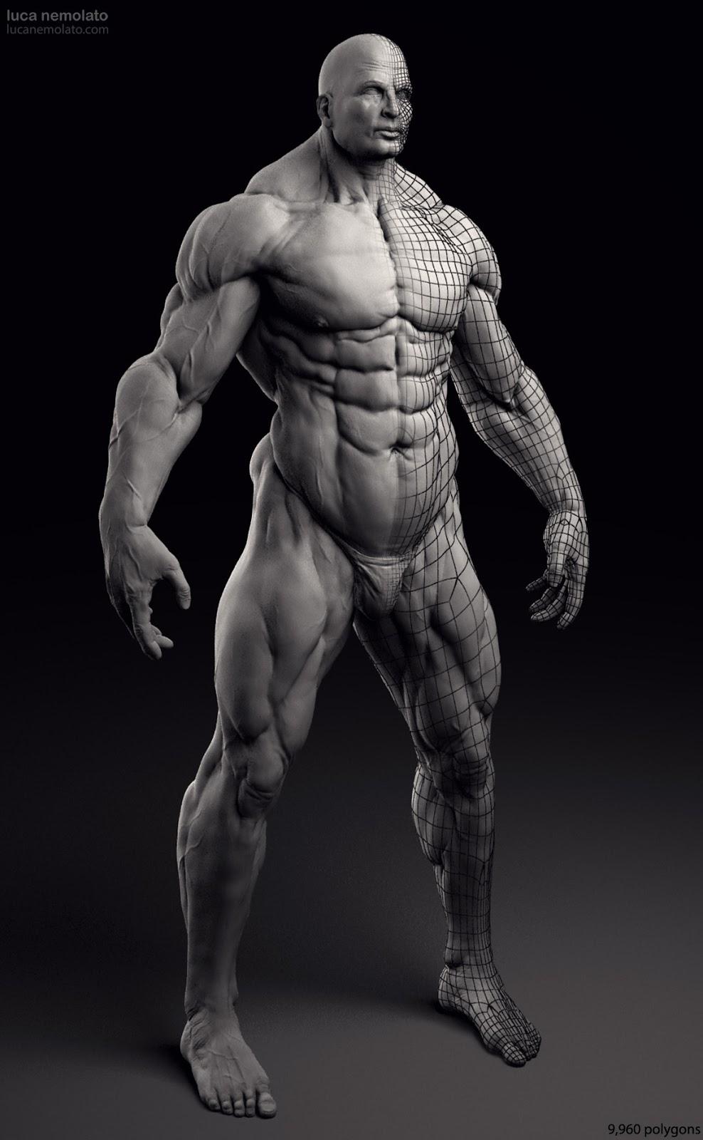 Extreme Bodybuilder - vray renders | Luca Nemolato