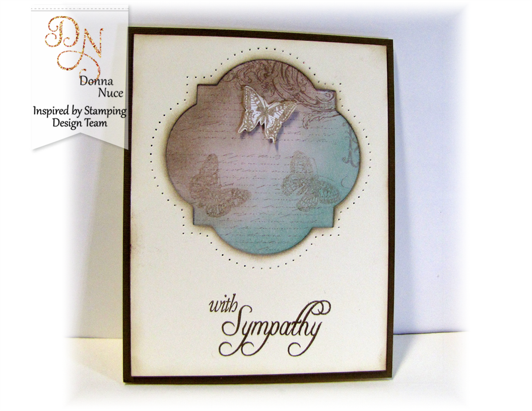 Inspired by Stamping, All Year Wishes, Butterfly Wings, Sympathy Card