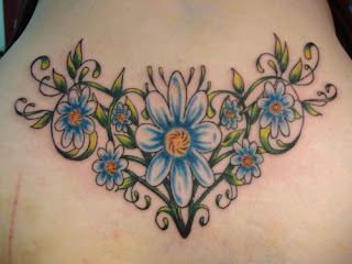 daisy tattoo style for girls