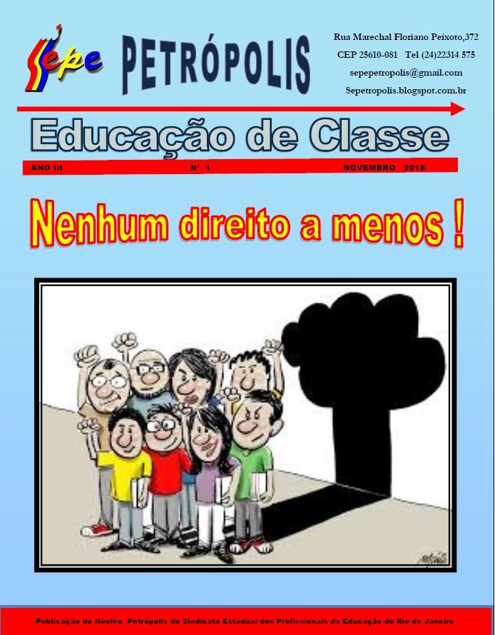 REVISTA EDUCAÇÃO DE CLASSE   ANO 3    EXEMPLAR 01