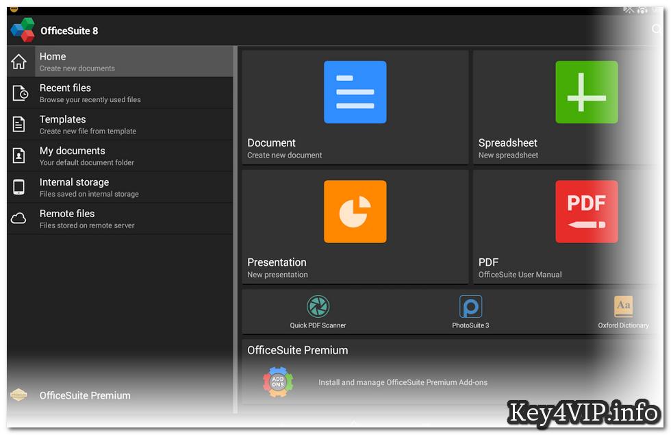OfficeSuite 8 Premium + PDF v8.1.3137,Phần mềm đọc và sửa file Word,Excel,PowerPoint và PDF cho Android