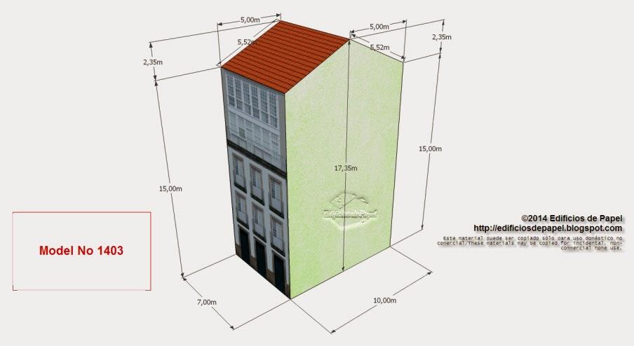 Edificios de Papel - Edificio Cervantes - Model No 1403