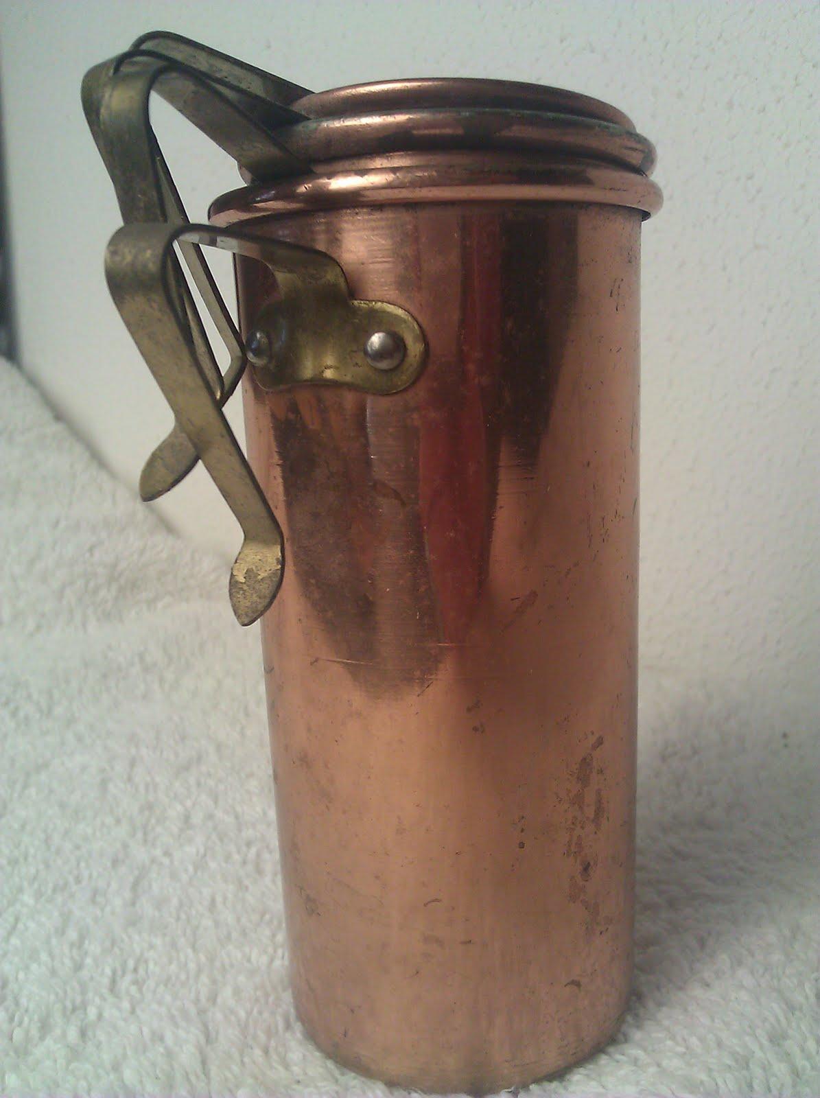 cleaning house vintage copper stackable measuring cups for sale. Black Bedroom Furniture Sets. Home Design Ideas