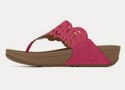 Fiflop Flora Sandals in Rio Pink