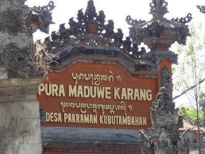 Sejarah dan Keunikan Pura Maduwe Karang
